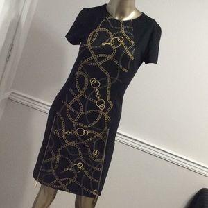 Michael Kors Black and Gold Dress